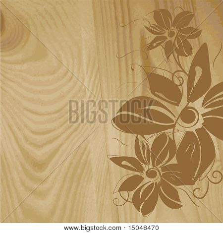 Wooden structure with flower pattern
