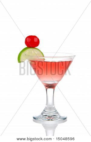 Red Cosmopolitan Martini Cocktail With Vodka