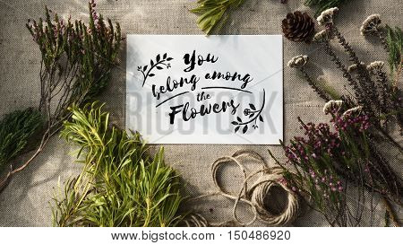 Flower Decorating Florist Hobby Recreational Pursuit Concept