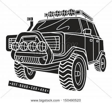 Stock Vector Illustration Off-road Car