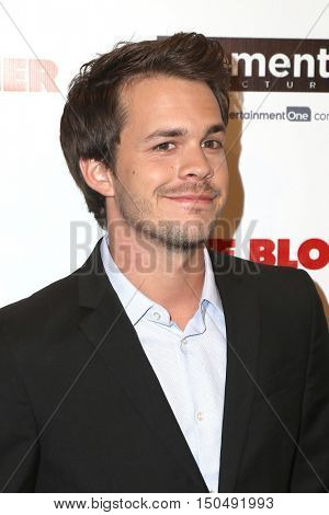 LOS ANGELES - OCT 3:  Johnny Simmons at the