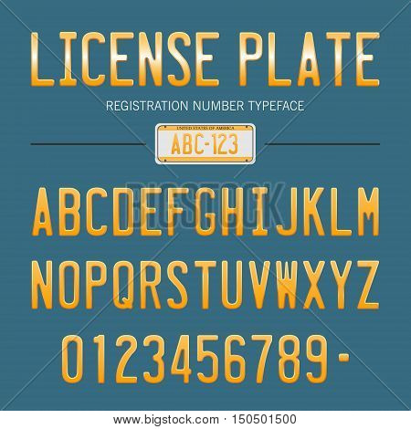 license plate font, usa car numbers font style