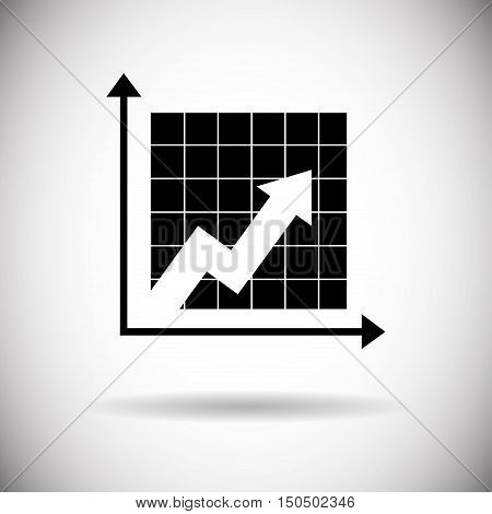 Finance Graph Arrow Up Chart Web Icon Flat Vector Illustration