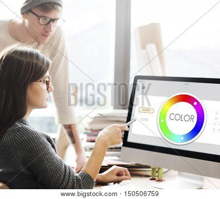 Color Swatch CMYK Design Spectrum Sample Concept