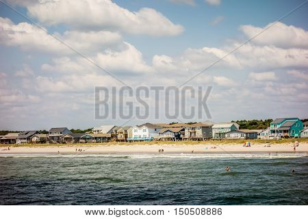 Scenic Views At Oak Island Beach North Carolina