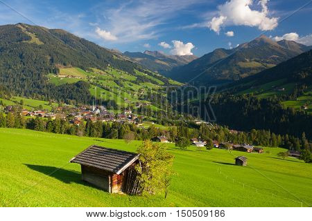 The alpine village of Alpbach and the Alpbachtal (Alpbach valley) Austria.
