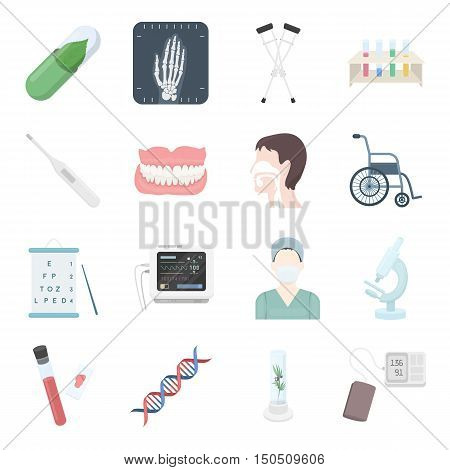 Medical icons set. Vector collection of medical equipment or medical drug. Unique design of medical, healthcare and hospital icons - stock vector