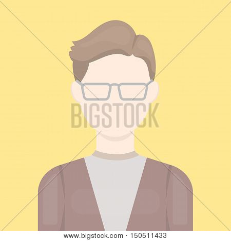 Man with glasses icon cartoon. Single avatar, peaople icon from the big avatar collection.