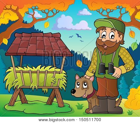 Forester theme image 6 - eps10 vector illustration.