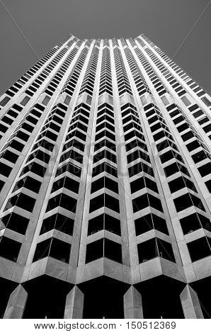 San Francisco Hi-rise abstract black and white