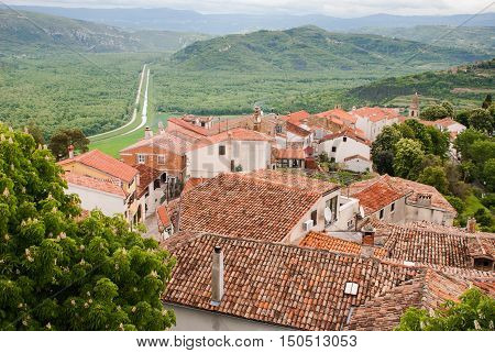 Photo of famous city Motovun, Istria, Croatia
