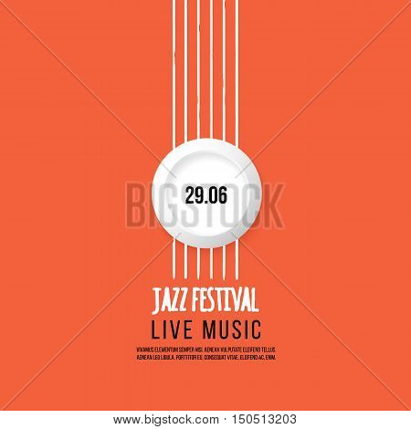 Jazz festival poster template. Jazz music. Saxophone. International Jazz Day. Vector design element.