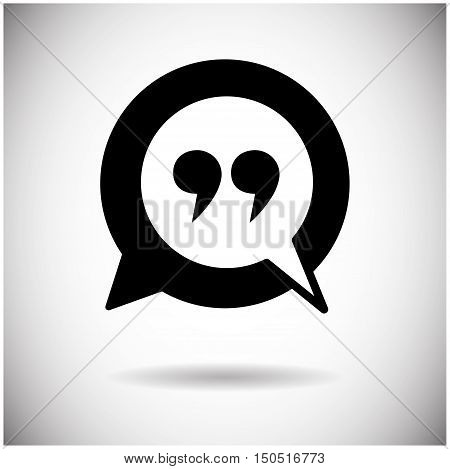 Quotes Icon Quotation Mark Flat Vector Illustration