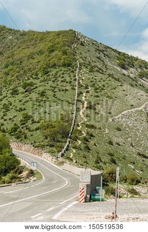 Road In The Moutains, Cres Island, Croatia