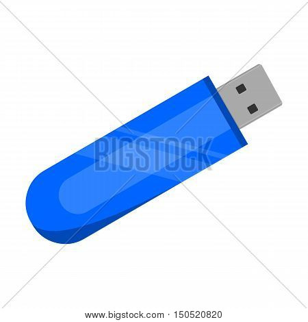 Flash drive icon cartoon. Single PC icon from the big technology collection.