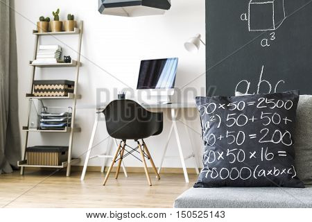 Room Of A Math Student Idea