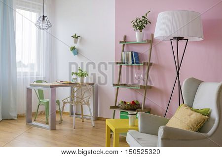 Pink And White Home Interior Idea