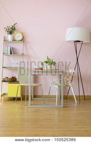 Touch Of Pink At Home Interior