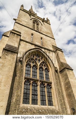 Corsham parish church in the market town of Corsham Cotswolds UK