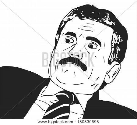 Vector guy meme face for any design. Isolated eps 10
