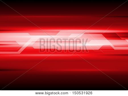 Dark red technical abstract background. Vector template design