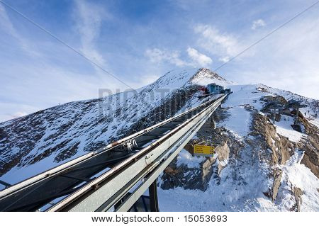 Funicular Trail Going To Kitzsteinhorn Peak