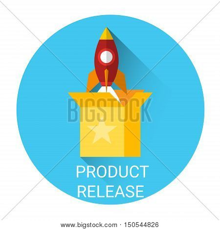 Product Release Business Partnership Icon Flat Vector Illustration