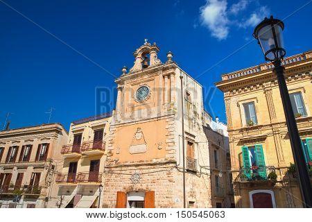 Clocktower. Acquaviva delle fonti. Puglia. Southern Italy.