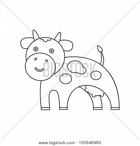 Cow line icon. Illustration for web and mobile.