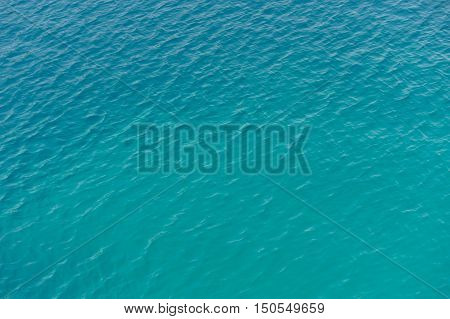 Water surface and waves of the mediterranean sea