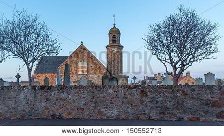 The Elie Parish Church in Elie, Scotland