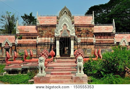 Samut Prakan Thailand - January 15 2013: The Phimai Sanctuary from Nakhon Ratchasima at Ancient Siam heritage park  *