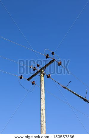 Telegraph Pole In Summer