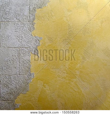 decorative plaster mix with smooth surface stonework