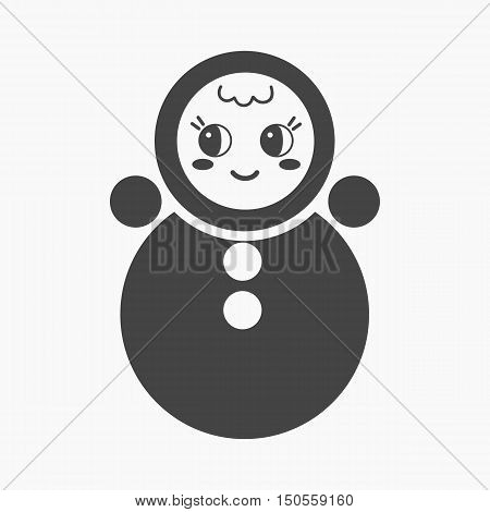 Roly Poly cartoon icon. Illustration for web and mobile.