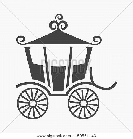 Carriage icon of rastr illustration for web and mobile design