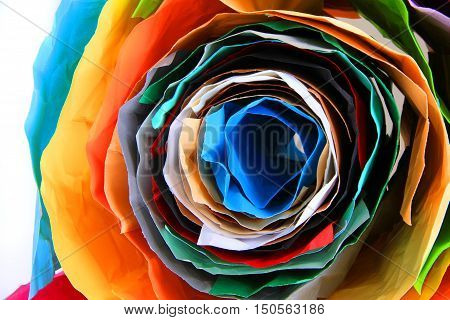 Color Paper Roll Background