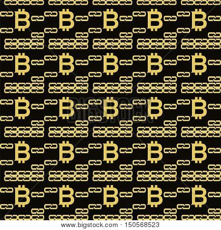 Bitcoin Blockchain Seamless Pattern