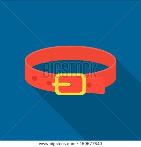 Pet collar icon of raster illustration for web and mobile design