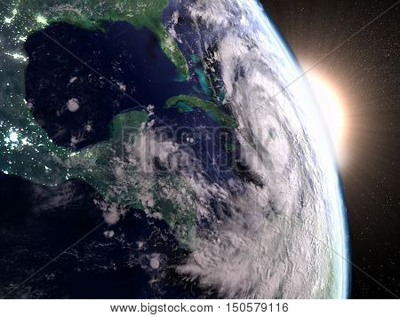 Hurricane Matthew Seen From Space