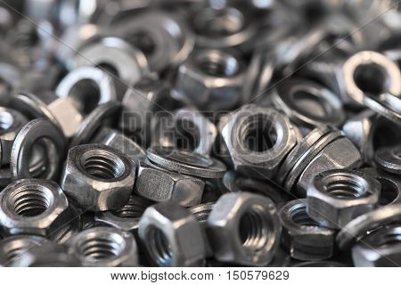 hex metal nut photo, metal nuts background