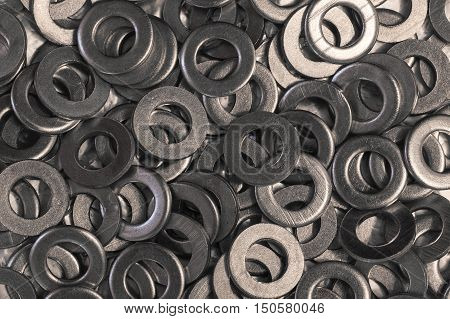 flat metal washers photo, pile steel washers