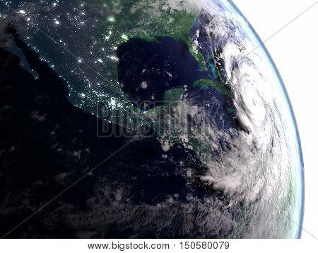 Hurricane Matthew In Early Morning