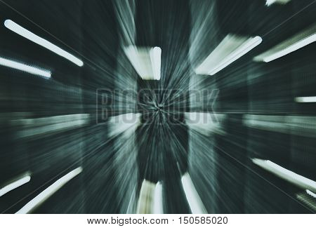 Abstract high speed accelerating technology green background