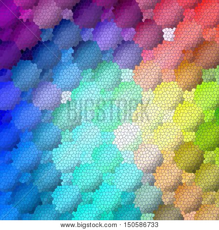 Abstract coloring background of the spectrum gradient with visual lighting,mosaic and stained glass effects.Good for your project design