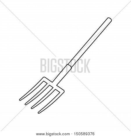 Pitchfork icon of rastr illustration for web and mobile design
