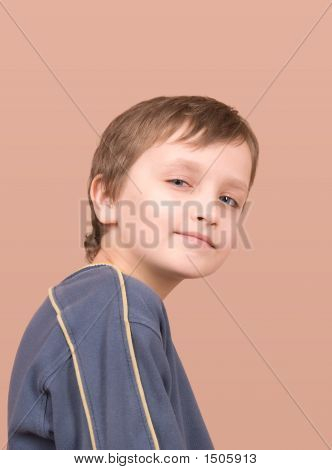 Young Boy Smiling Portrait