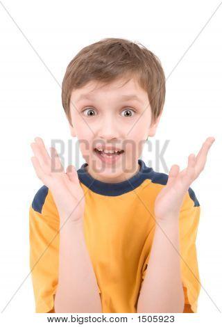 Surprised Boy Portrait
