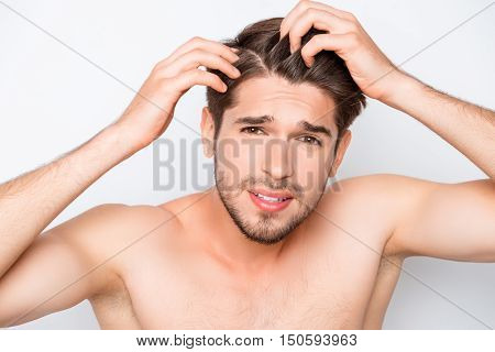 Young Bearded Man Expecting His Hair For Furfur
