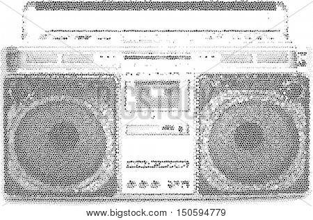 retro radio ghetto blaster